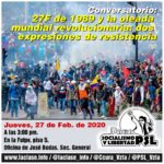 Conversatorio: 27 de febrero y la oleada mundial revolucionaria. Dos expresiones de resistencia