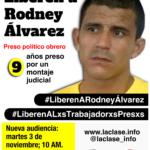 Libertad plena para Rodney Álvarez. El 3 de noviembre es la próxima audiencia en tribunales