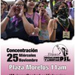Organizaciones de mujeres, sociales y políticas se concentrarán en la plaza Morelos este 25 de noviembre