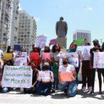Mujeres se concentraron en Caracas contra femicidios en Turén