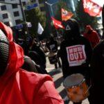 (Vídeo) Miles se movilizan en Corea del Sur en el marco de la huelga general