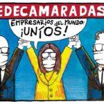 Caricatura de Samuel Bravo sobre relación entre gobierno y Fedecamaras